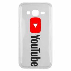 Чехол для Samsung J5 2015 Youtube logotype