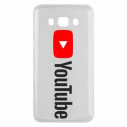 Чехол для Samsung J5 2016 Youtube logotype