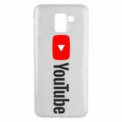 Чехол для Samsung J6 Youtube logotype