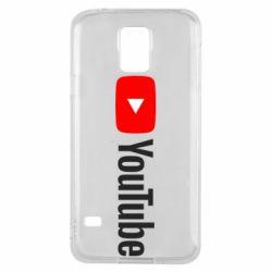 Чехол для Samsung S5 Youtube logotype