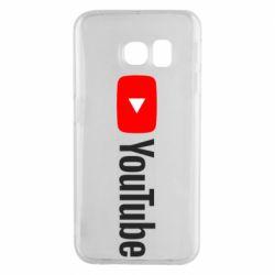Чехол для Samsung S6 EDGE Youtube logotype