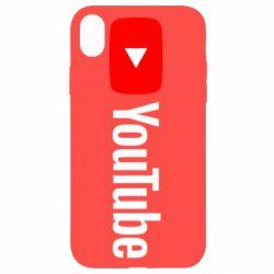 Чехол для iPhone XR Youtube logotype