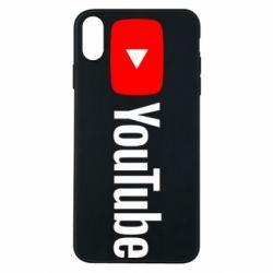 Чехол для iPhone Xs Max Youtube logotype