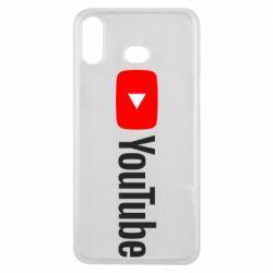 Чехол для Samsung A6s Youtube logotype