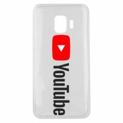 Чехол для Samsung J2 Core Youtube logotype