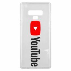 Чехол для Samsung Note 9 Youtube logotype