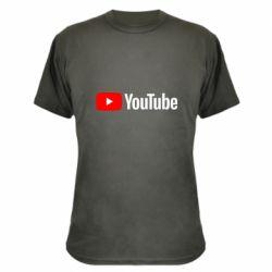 Камуфляжная футболка Youtube logotype