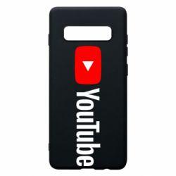 Чехол для Samsung S10+ Youtube logotype