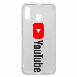 Чехол для Samsung A20 Youtube logotype