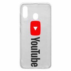 Чехол для Samsung A30 Youtube logotype
