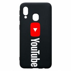 Чехол для Samsung A40 Youtube logotype