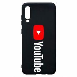 Чехол для Samsung A70 Youtube logotype