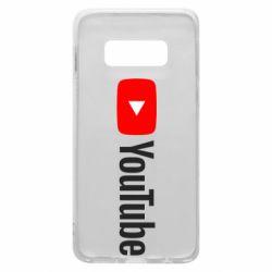 Чехол для Samsung S10e Youtube logotype