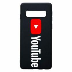 Чехол для Samsung S10 Youtube logotype