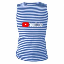 Майка-тельняшка Youtube logotype