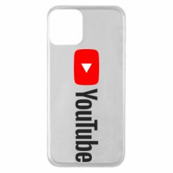 Чехол для iPhone 11 Youtube logotype