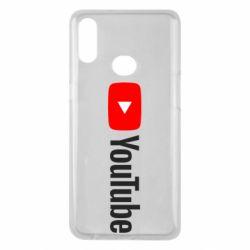 Чехол для Samsung A10s Youtube logotype