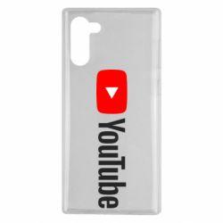 Чехол для Samsung Note 10 Youtube logotype