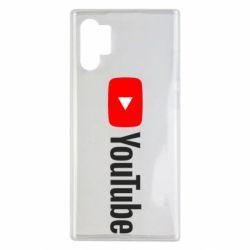 Чехол для Samsung Note 10 Plus Youtube logotype