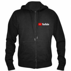 Мужская толстовка на молнии Youtube logotype