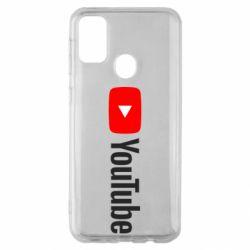 Чехол для Samsung M30s Youtube logotype