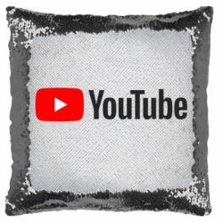 Подушка-хамелеон Youtube logotype