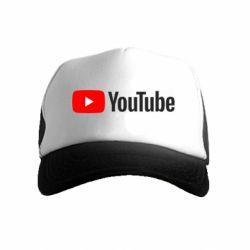 Детская кепка-тракер Youtube logotype