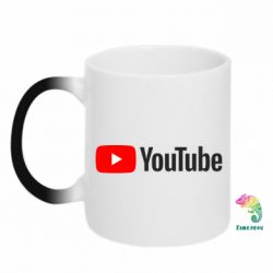Кружка-хамелеон Youtube logotype