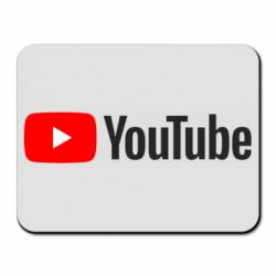 Коврик для мыши Youtube logotype