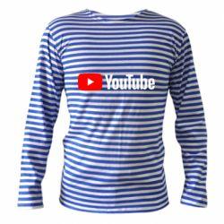 Тельняшка с длинным рукавом Youtube logotype