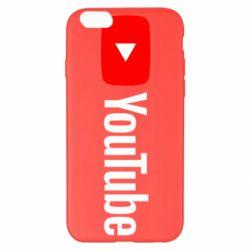Чехол для iPhone 6 Plus/6S Plus Youtube logotype