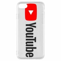 Чехол для iPhone 7 Youtube logotype