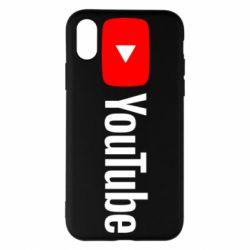 Чехол для iPhone X/Xs Youtube logotype