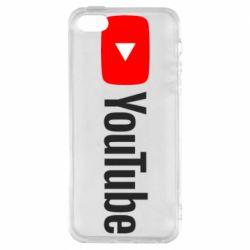 Чехол для iPhone5/5S/SE Youtube logotype