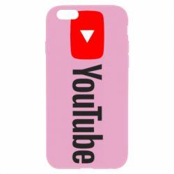 Чехол для iPhone 6/6S Youtube logotype