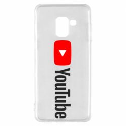 Чехол для Samsung A8 2018 Youtube logotype