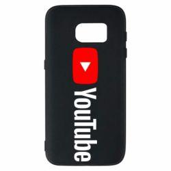 Чехол для Samsung S7 Youtube logotype