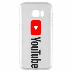 Чехол для Samsung S7 EDGE Youtube logotype