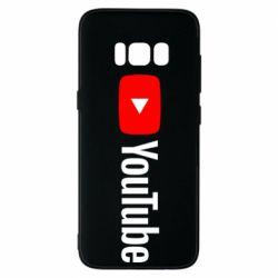 Чехол для Samsung S8 Youtube logotype