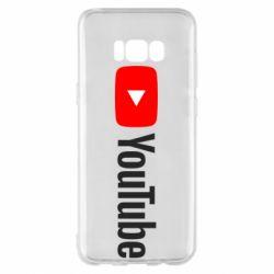 Чехол для Samsung S8+ Youtube logotype