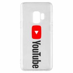 Чехол для Samsung S9 Youtube logotype