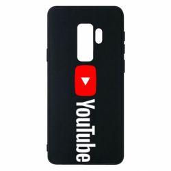 Чехол для Samsung S9+ Youtube logotype