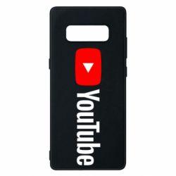 Чехол для Samsung Note 8 Youtube logotype