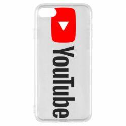 Чехол для iPhone 8 Youtube logotype