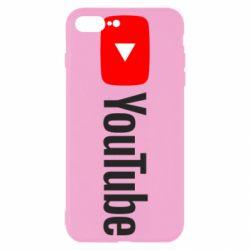 Чехол для iPhone 8 Plus Youtube logotype