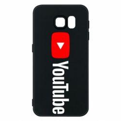 Чехол для Samsung S6 Youtube logotype