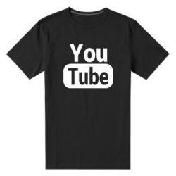 Чоловіча стрейчева футболка Youtube vertical logo