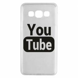 Чохол для Samsung A3 2015 Youtube vertical logo