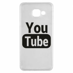 Чохол для Samsung A3 2016 Youtube vertical logo