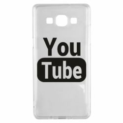 Чохол для Samsung A5 2015 Youtube vertical logo